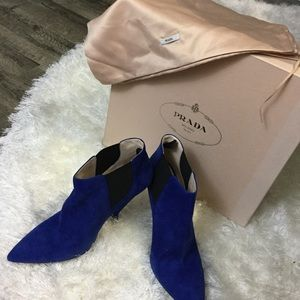 PRADA Bluette Booties (New in Box)